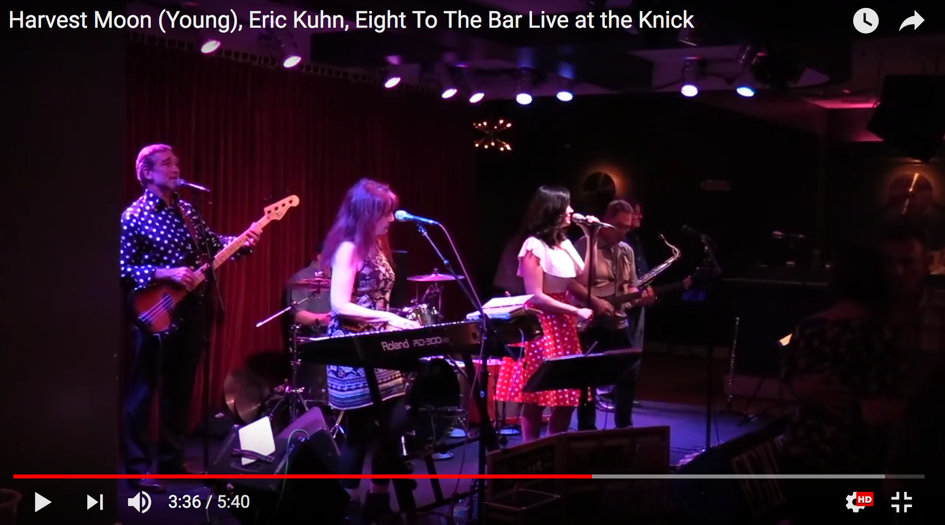 Harvest Moon - Eric Kuhn, Eight To The Bar