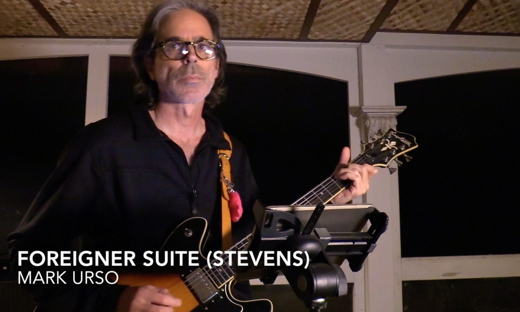 Mark Urso Foreigner Suite Cat Stevens